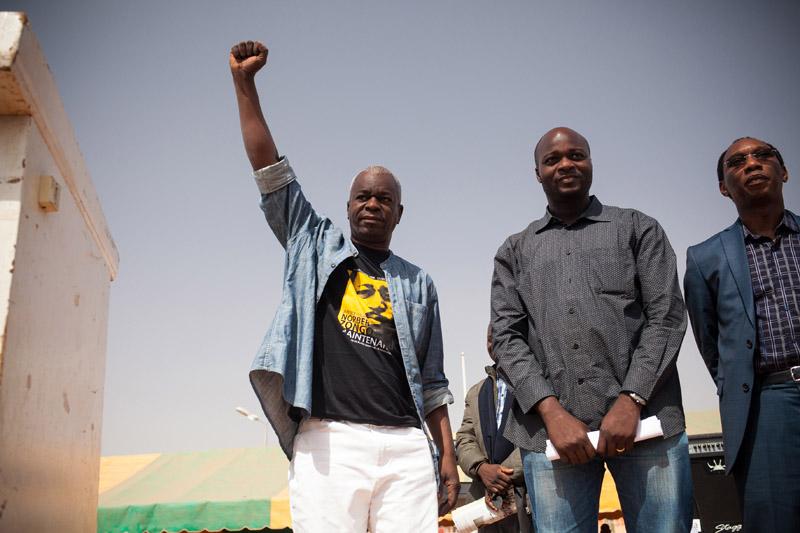 Chérif Sy, lors de la commémoration de l'assassinat du journaliste Norbert Zongo, en 2014.