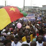 Un drapeau camerounais durant la campagne présidentielle de 2018. Photo d'illustration.