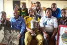 Les ex-footballeurs des Léopards vainqueurs de la CAN en 1968 et en 1974, ici à Kinshasa, le 17 septembre 2016 (image d'illustration).
