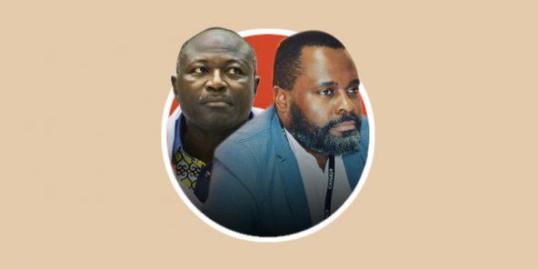 Eddie Komboïgo (à droite) et Aymé Makuta