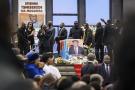Cérémonie d'hommage à Étienne Tshisekedi à Bruxelles, le 5 février 2017.