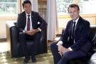 Emmanuel Macron (à d.) et Andry Rajoelina, à Paris, le 29 mai 2019 (image d'illustration).