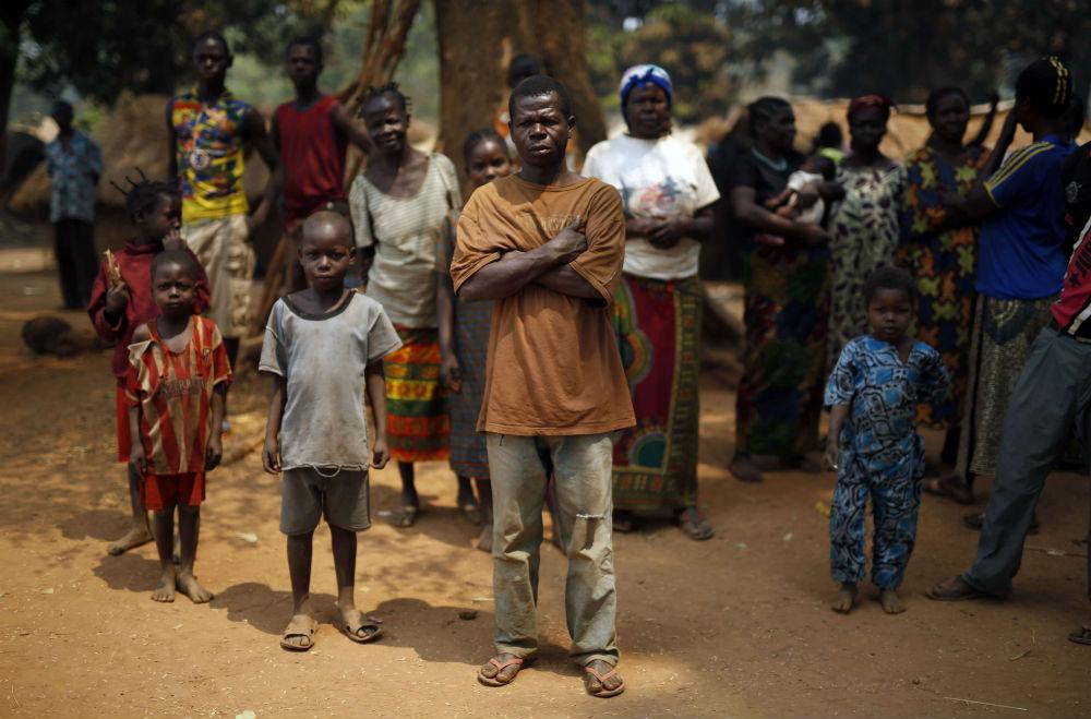 Une famille chrétienne dans un camp de déplacés à Kaga-Bandoro, dans le nord de la Centrafrique, en 2016 (archives).