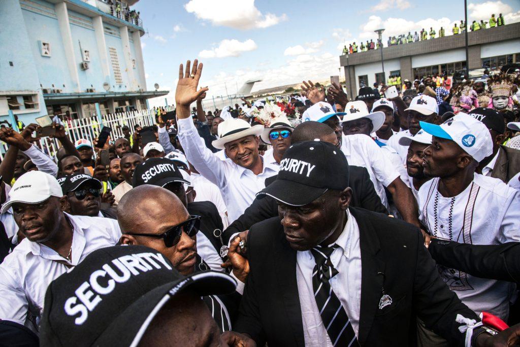 À l'arrivée de Moïse Katumbi à l'aéroport de Lubumbashi, le 20mai.