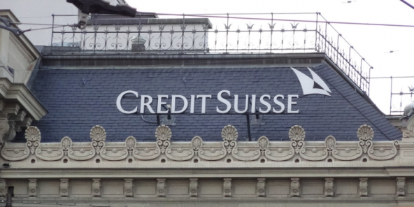 Le Credit Suisse, à Zurich, en Suisse.