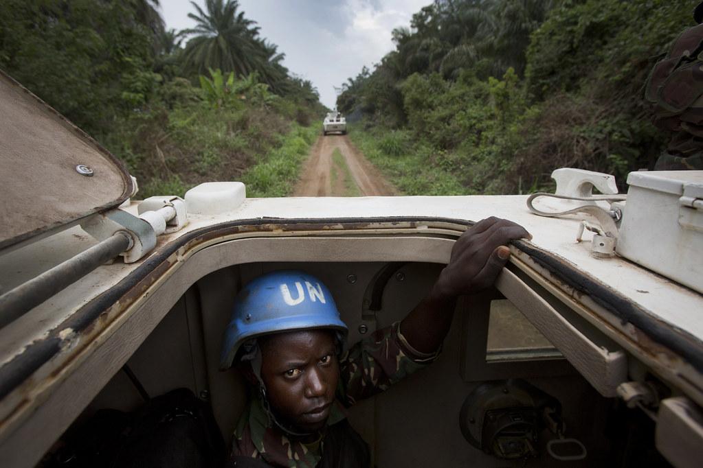 Lors d'une opération conjointe entre la Monusco et les FARDC contre les ADF, près de Beni, en 2014.
