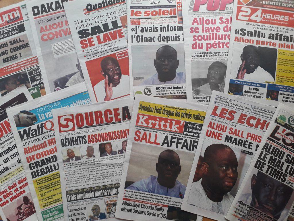 Les Unes de la presse sénégalaise du mardi 4 juin 2019.