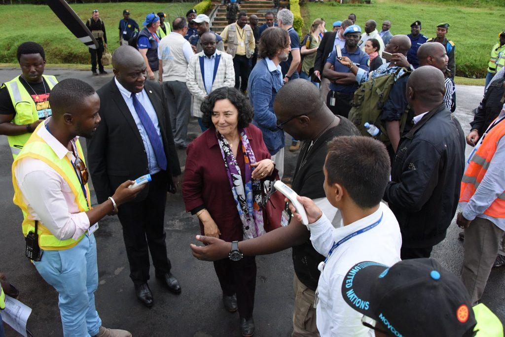 Leila Zerrougui, la cheffe de la Monusco le 18 février 2016 à Béni.