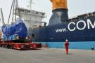 Débarquement au Port autonome du Douala, le 5 janvier 2012.