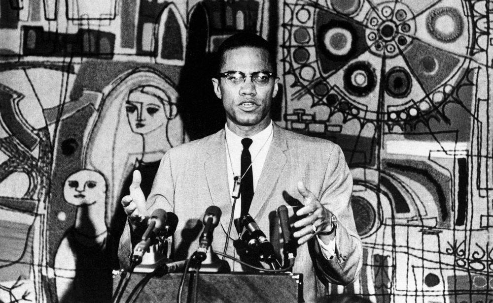 Malcolm X en 1964 à New York.