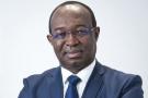 Anicet-Georges Dologuele (Republique Centrafricaine – RCA), ancien premier ministre, ex-président de la Banque de Developpement des Etats de l'Afrique Centrale (BDEAC). Il cree en octobre 2013 l'Union pour le Renouveau Centrafricain (URCA), dont il est le candidat a l'élection presidentielle de 2015. Il est aussi depute de Bocaranga. A Paris, le 12.09.2016.