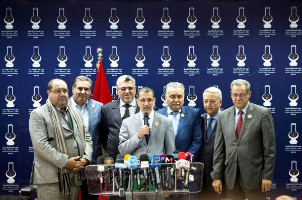 Lors de la formation de la coalition gouvernementale, le 25 mars 2017.