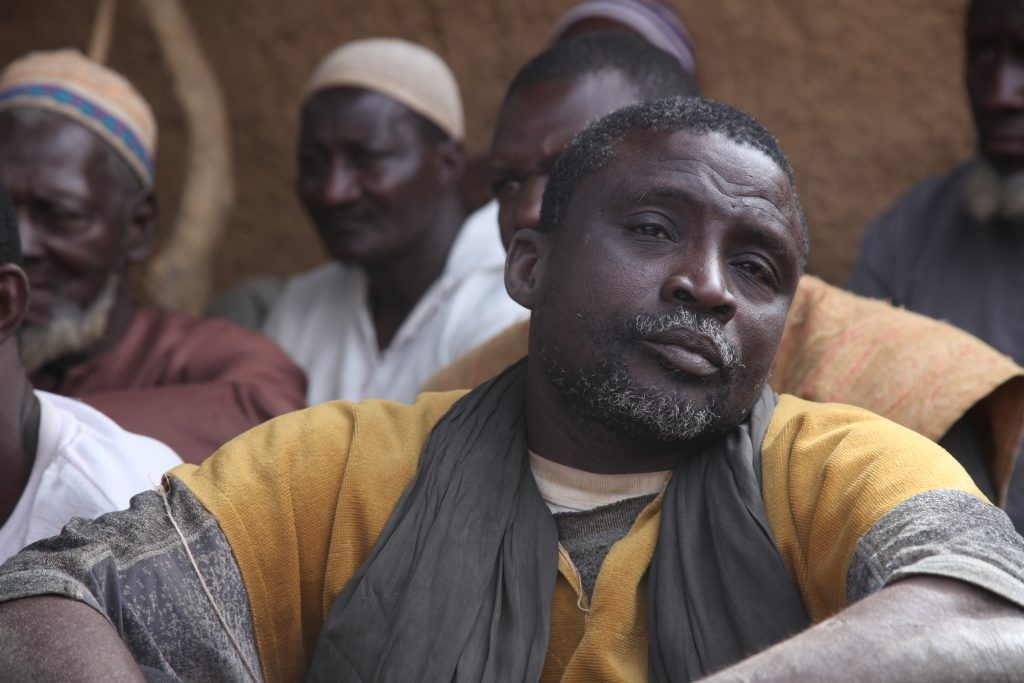 Diougeul Douyon, chef de la malice Dan Na Ambassagou à Dangaténé.