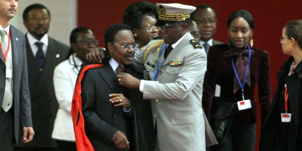 Omar Bongo Ondimba, le 9 décembre 2007 lors du sommet UE-Afrique à Lisbonne.
