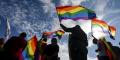 Le drapeau arc-en-ciel, connu comme celui utilisé par la communauté LGBTQ.