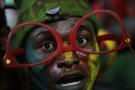 Un supporter camerounais durant la CAN 2017 au Gabon.