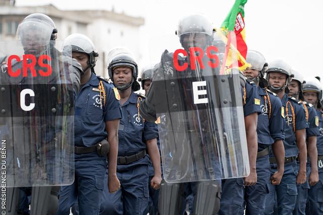 Des policiers lors d'un défilé militaire, le 1er août 2017 (Illustration).