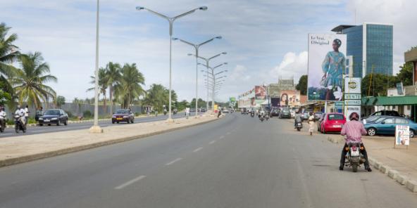 Une route de Lomé, au Togo (photo d'illustration).
