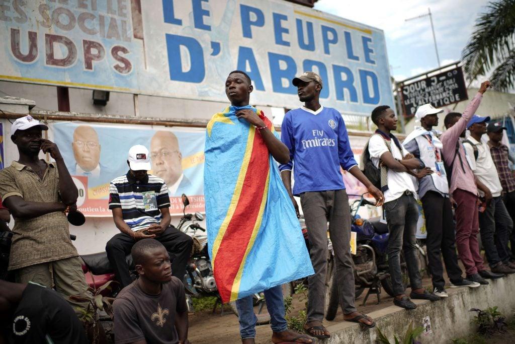Des militants de l'UDPS, au siège du parti de Félix Tshisekedi, à Kinshasa le 21 décembre 2018 (archive / Illustration).