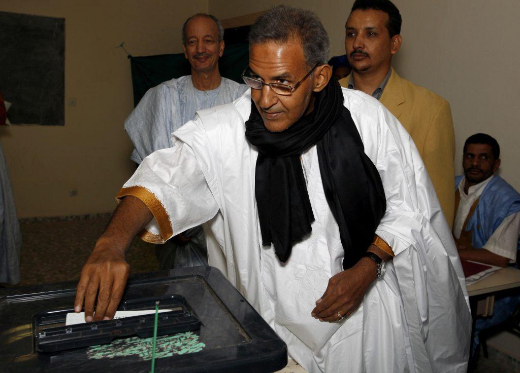 L'opposant Ahmed Ould Daddah, lors de la présidentielle de 2007 en Mauritanie.