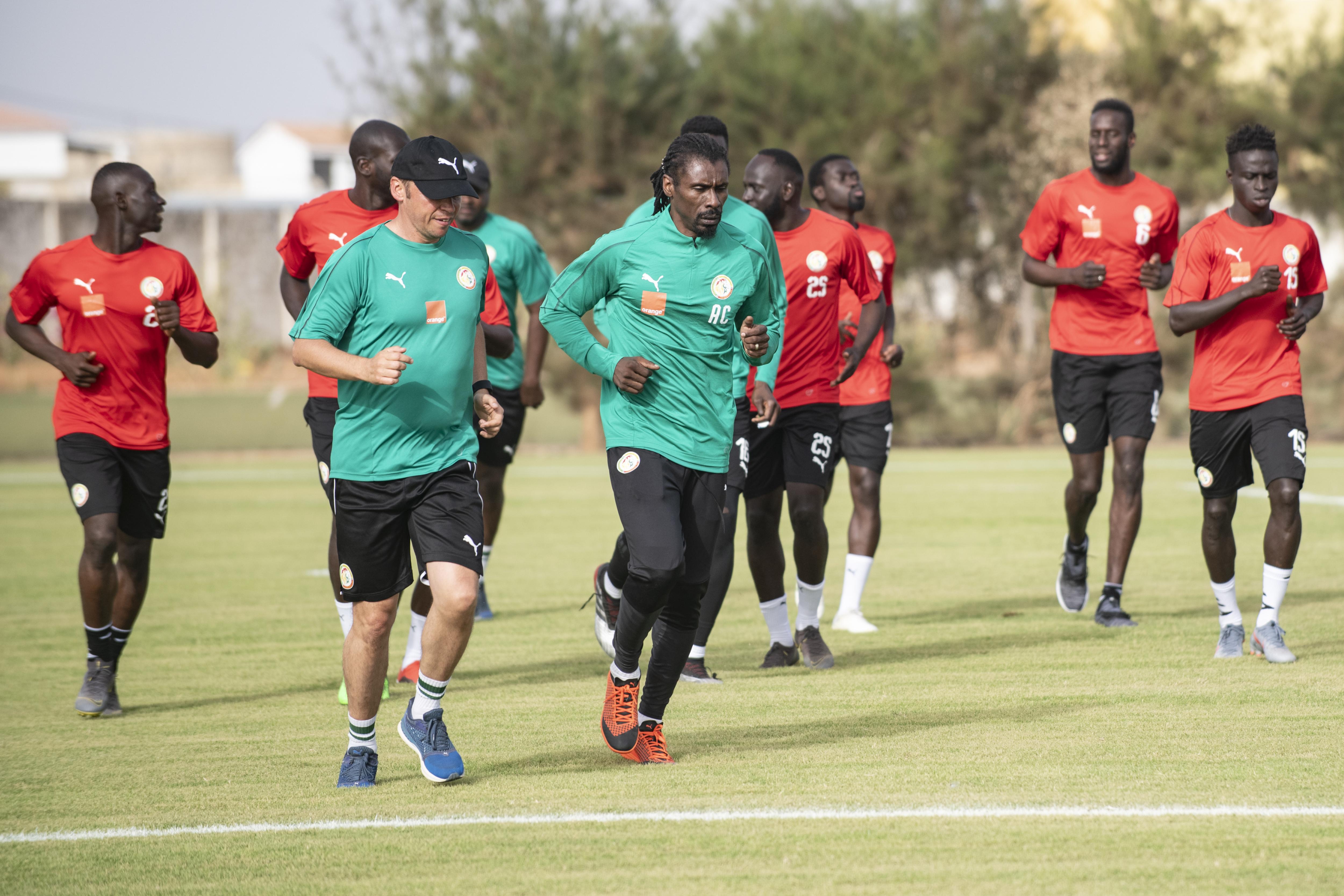 Aliou Cissé à Saly le 4 juin 2019 lors de l'ouverture du stage de préparation pour la CAN 2019.