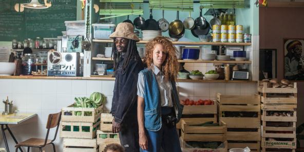 Daqui Gomis et Coralie Jouhier ont ouvert Jah Jah by Le Tricycle en mai2017.