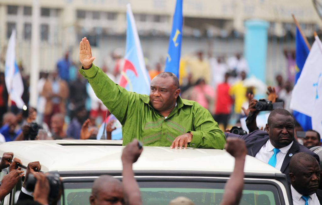 Jean-Pierre Bemba, à son retour à Kinshasa, le 23 juin 2019.