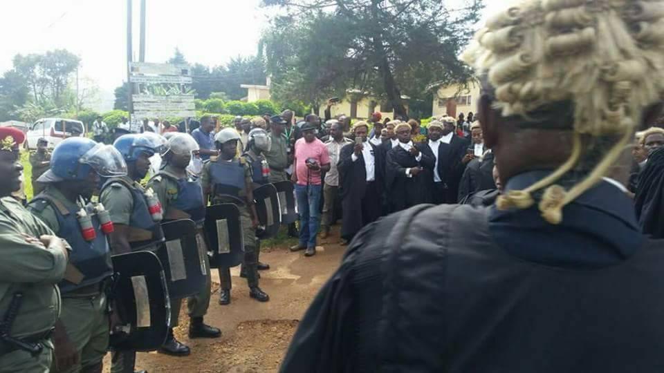 Manifestation d'avocats à Bamenda, le 8 novembre 2016.