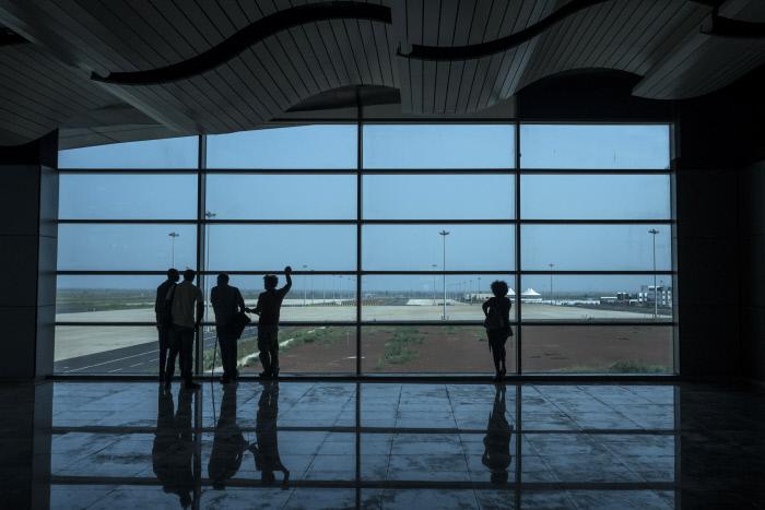 La salle d'embarquement de l'AIBD.