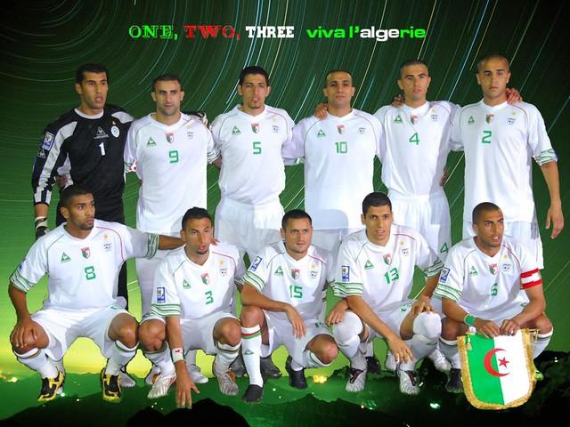 L'équipe algérienne de football qualifiée pour le Mondial 2010.