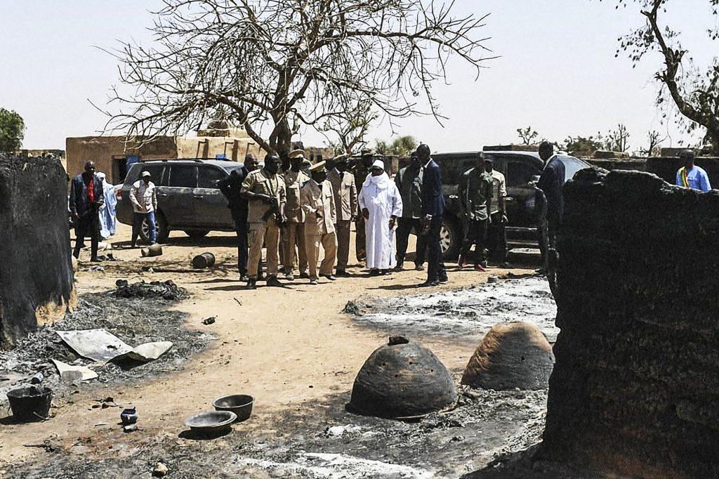 Le 25mars, le président malien s'est rendu à Ogossagou, où plus de 160 villageois avaient été tués quarante-huit heures plus tôt.