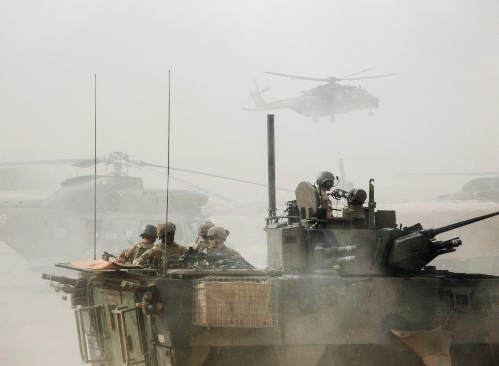 Opération de la force française Barkhane dans la région de Gourma, en mars.