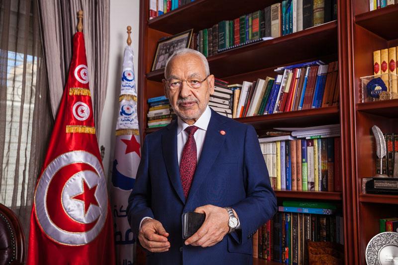 Rached Ghannouchi, le président du parti Ennahdha, le 18 juin 2019.