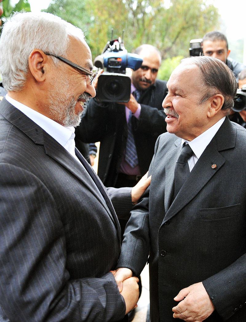 Rached Ghannouchi avec Abdelaziz Bouteflika.