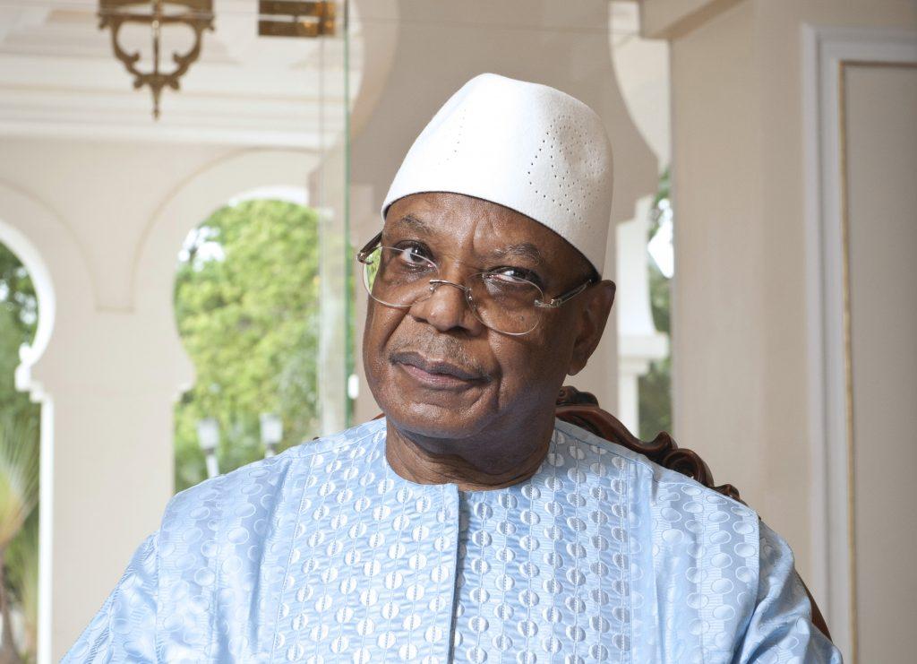 Ibrahim Boubacar Keita, président malien, lors d'une interview à Jeune Afrique au palais de Koulouba, le 17 juin 2019.