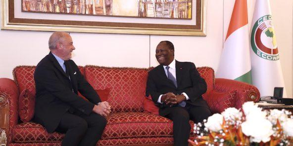 Passage de Stéphane Richard à Abidjan.
