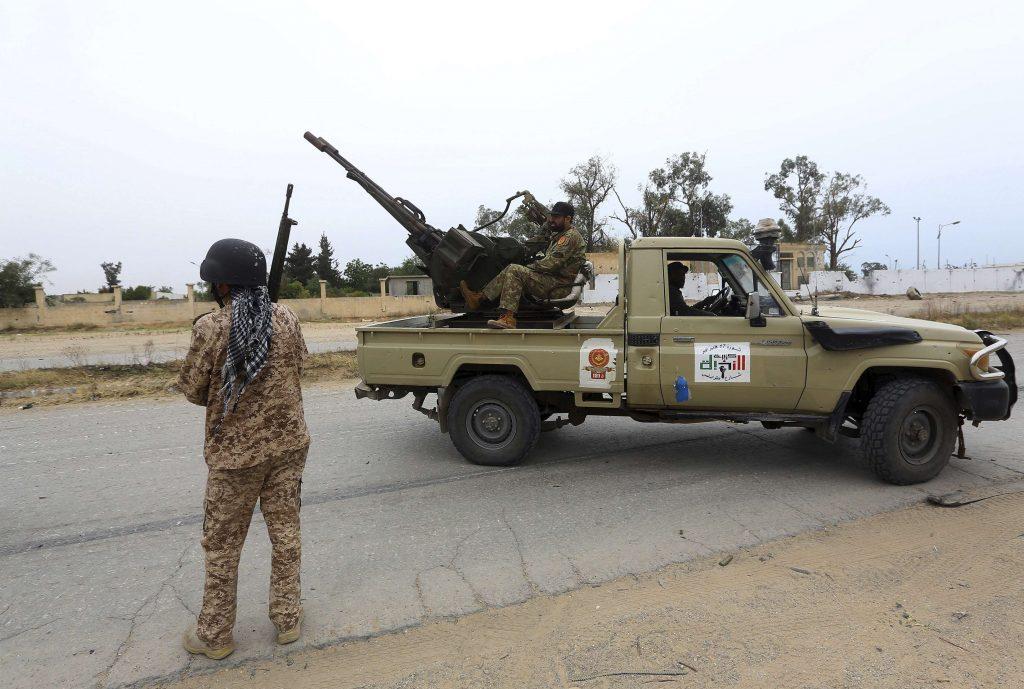 Des combattants alliés à Fayez al-Sarraj, en mai 2019 au Sud de Tripoli.