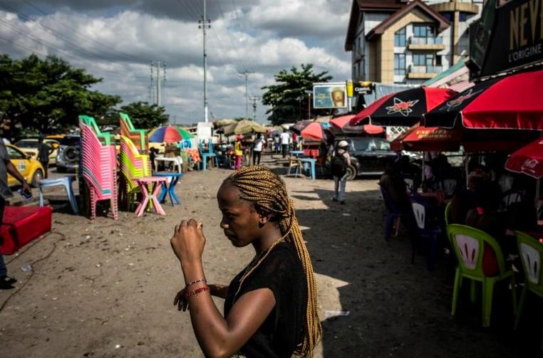 Une rue du quartier de Bandal, à Kinshasa, le 7 janvier 2019.