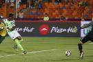 Le Nigérian Samuel Chukwueze ouvre le score face à l'Afrique du Sud, le 10 juillet 2019 au Caire.