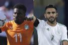 Les capitaines de la Côte d'Ivoire et de l'Algérie qui se rencontrent en quart de finale de la CAN 2019 : Serge Aurier et Riyad Mahrez.