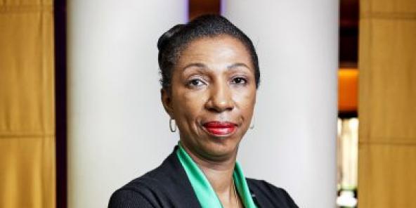 Jeanine Mabunda, Présidente Assemblée Nationale congolaise, paris le 4 juillet 2019.
