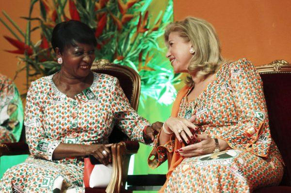 Henriette Konan Bédié et Dominique Ouattara, le 13septembre 2015.