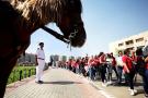A quelques heures de la cérémonie d'ouverture de la CAN, aux abords du Stade international du Caire, le 21 juin 2019.