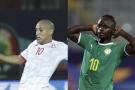 Wahbi Khazri et Sadio Mané, les deux attaquants vedettes de la Tunisie et du Sénégal.