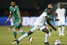 Les attaquants algérien et sénégalais Riyad Mahrez et Sadio Mané, lors de la confrontation des Verts et des Lions de la Teranga en phase de poule de la CAN 2019, le 27 juin dernier.