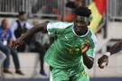 Lamine Gassama, le défenseur latéral du Sénégal à la CAN 2019 en Égypte.
