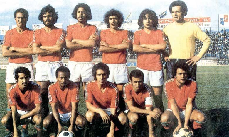 L'équipe du Maroc championne d'Afrique lors de la CAN 1976.