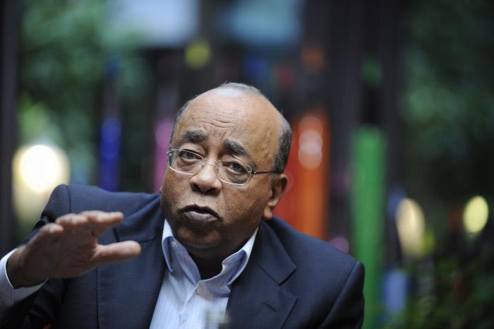 Mo Ibrahim, en 2014 à Paris.
