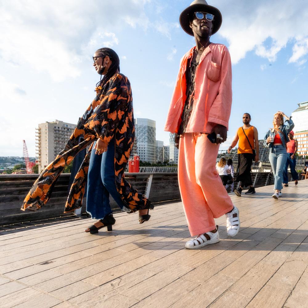 Lors de la  5ème édition française du festival de musique Afropunk, àParis, les 13 et 14 juillet 2019.