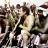 Le chanteur Johnny Clegg, en costume traditionnel lors de son mariage, le 27 mars 1989.
